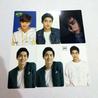 EXO SUHO JUNMYEON OFFICIAL PHOTOCARD