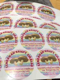 Business product stickers labels customised