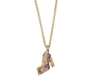 Disney x ABISTE Rapunzel High Heel Handmade Necklace 全人手造 長髪公主 韓國制頸鏈 Last One 連原裝紙袋及包裝 Bling Bling
