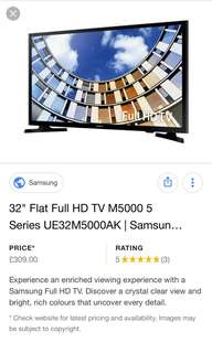 "Samsung New M5000 32"" LED"