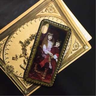 限量 復古油畫浮雕手機殼
