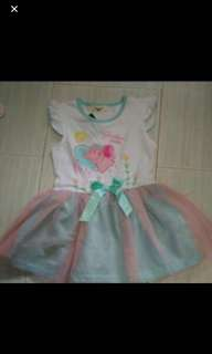 Brand New PePPA Pig Dress Ready Stock For 4 To 5 Yrs Old