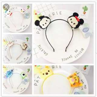 All Instock.! Tsum Tsum Hair Band