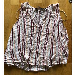 glassons pink striped top