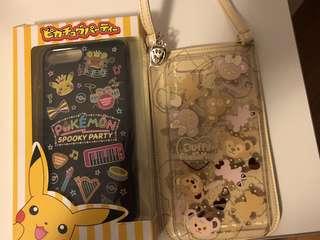 Two for $60. Disneyland Duffy, Pokémon iphone 7/ 8 plus case