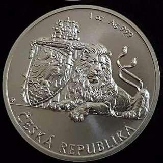 2017 Czech Republic 1 oz silver coin