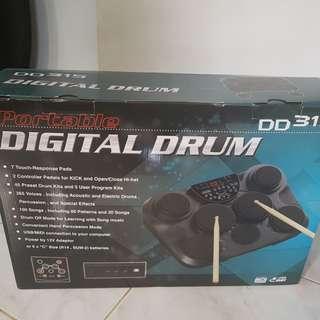 Portable drum set