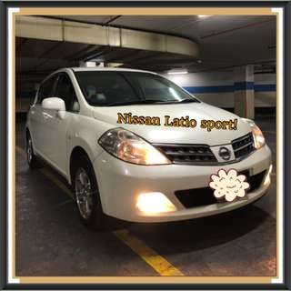 NISSAN LATIO CVT 1.5L ABS D/AIRBAG 2WD 5DR! Promo Now! Petrol Saver Proven! 18% off petrol Card! Lowest Price! Can Drive For Uber/Grab/Sixtnc! Flexible Rental Scheme! Personal User! Call Now!