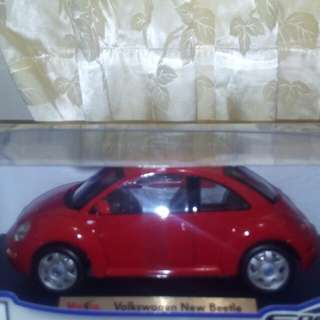 🚚 福斯金龜車1:18模型車(紅色)