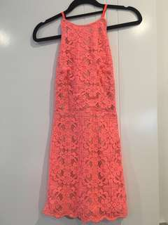 Angel Biba Dress - Pink / Coral