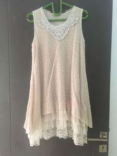 Vintage knit tulle dress