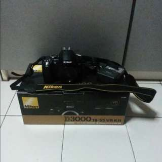 Nikon DSLR D3000 Black Camera Body Only (no lense)