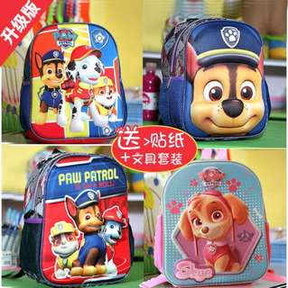Free mailing paw patrol bag with stationery and stickers
