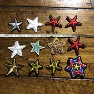 Sew / iron on patch stars