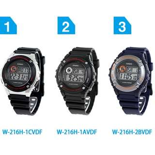 ORIGINAL CASIO YOUTH DIGITAL [W-216H SERIES]