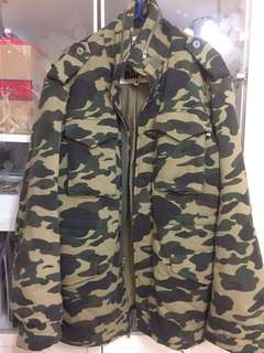 BAPE 深綠迷彩 camo 軍褸 jacket 歡迎交換