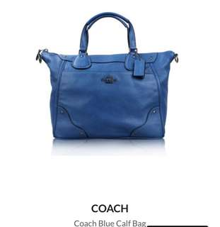 Coach blue calf bag
