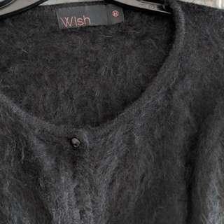 Wish Angora fur crop jacket sM