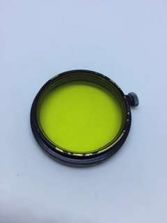Leica yellow A36 36mm clamp on filter - for elmar summaron