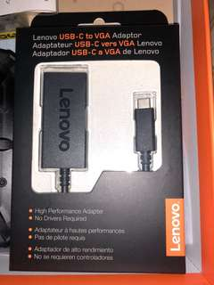 Lenovo USB-C to VGA Adaptor