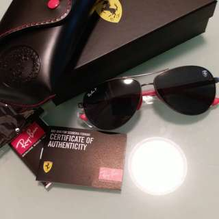 Original rayban RB 8313 ferrari edition gunmetal frame polarized black lens