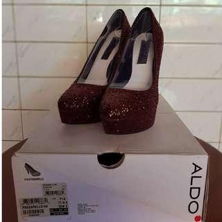 sepatu wanita pedro sequin pump heels
