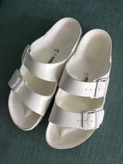 Women's white foam Birkenstocks