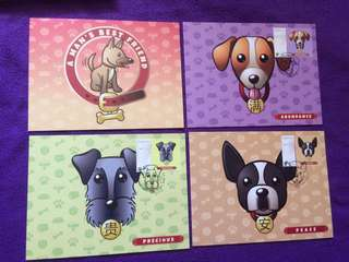 Pos card Dog with Stamp 12pcs