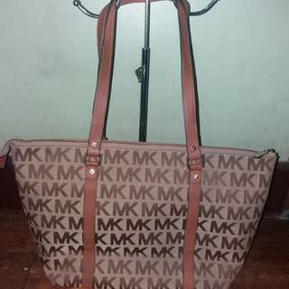 Authentic Michael kors mk monogram tote bag