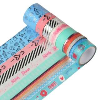 Blue and Silver Washi Tape Set