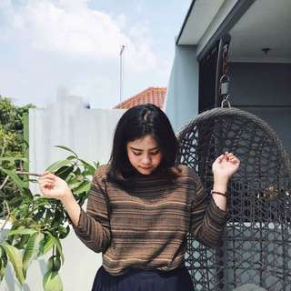 Stripe Choco Sweater