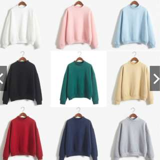 S.11 Women Solid Color Long Sleeve Casual Sweatshirt Pullover