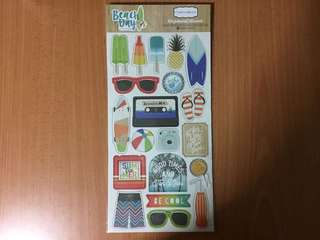 Carta Bella Chipboard Accents Stickers (Beach Days)