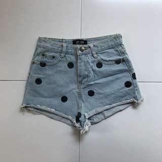 Rugged Polka Dot Jeans Short