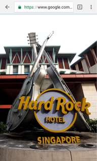 Hard Rock Hotel ( 25 March , 2d 1n )
