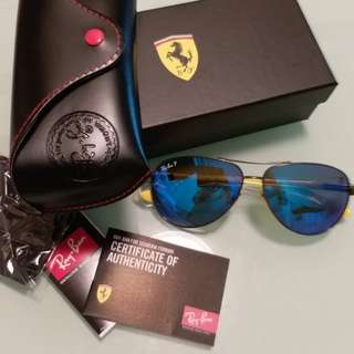 Rayban Sunglasses RB 8313 ferrari edition blue polarised lens
