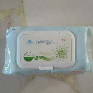 Jeju Wet Wipes With Cap 80 Sheets