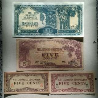 Japanese invasion money banana notes