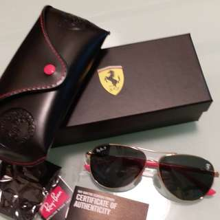 Original rayban RB 8313 Ferrari edition gray polarised lens