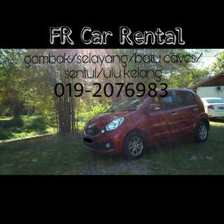 Kereta sewa available