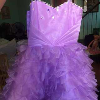 Elegant baby gown with tiara and wings