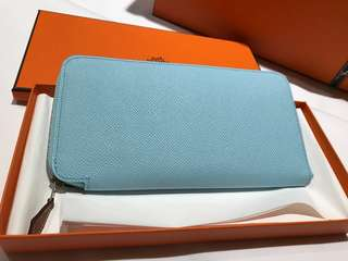 💯 Real Hermes Silk Wallet Epsom