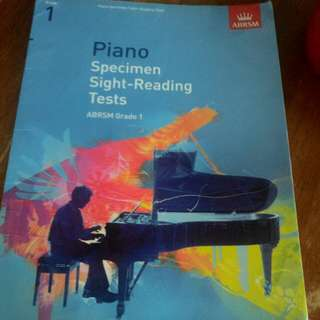 Piano specimen sight reading tests grade 1