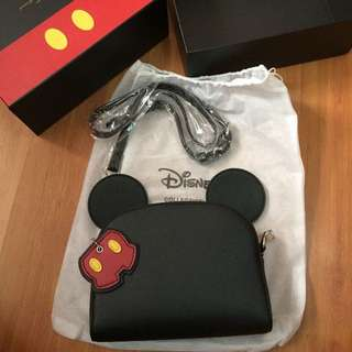 Mickey Mouse's Charm Double Layer Sling Bag by Gracegift