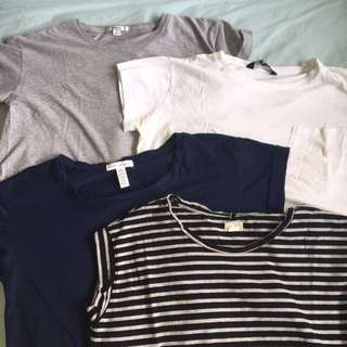 4 x cropped basic T shirts!