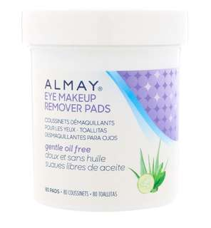 ✨PO✨ Almay, Eye Makeup Remover Pads, Gentle Oil Free, 80 Pads