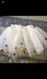 4 Layers Balls Girls Tutu Skirt Soft Mesh Lace Children Skirts Ins Hot Style Baby Tutu Skirt Wild Bottoming Princess Skirt Size 12m (READY STOCK)