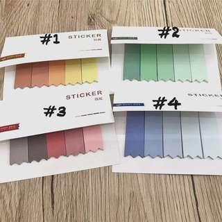 Colour gradient post it