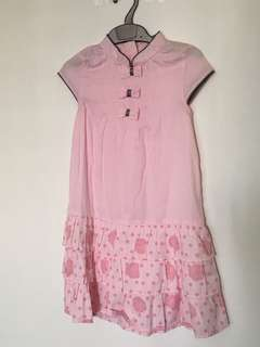 Sweet bow frill dress(pink)