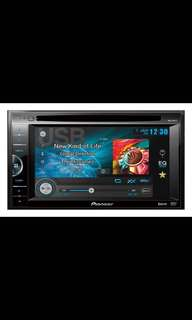 "Pioneer AVH-165DVD  In-Dash Double-Din DVD Multimedia AV Receiver with 6.1"" VGA Touch Display, and USB Direct Control for Certain Android Phones. Car Radio And Audio System"